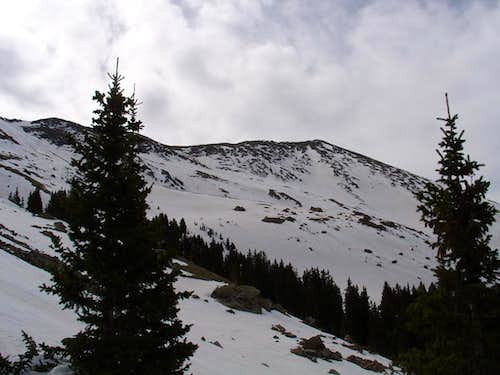Wheeler Peak:  W Face Ski Descent