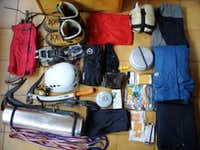 My gear for the Mont Blanc ascent