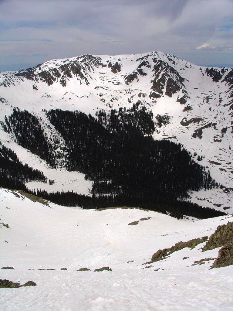 Looking down the west slope of Wheeler Pk