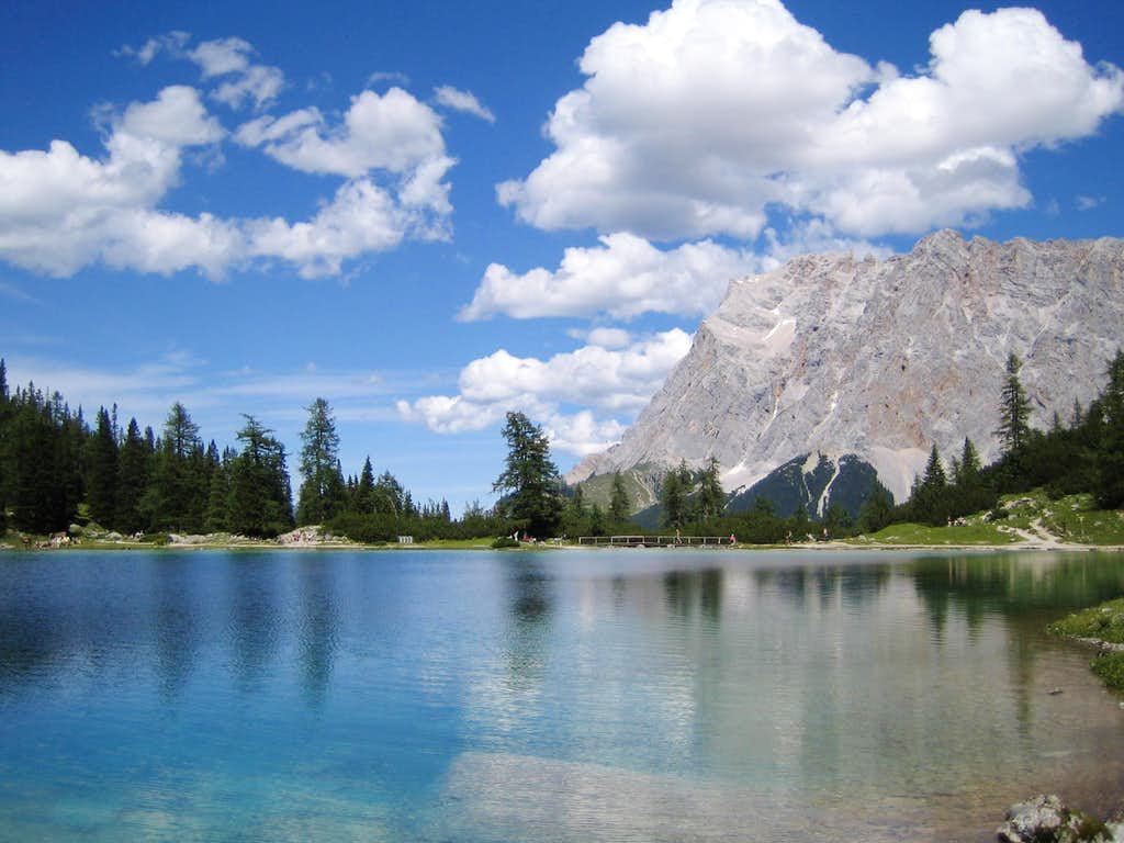 Zugspitze and Seeben lake