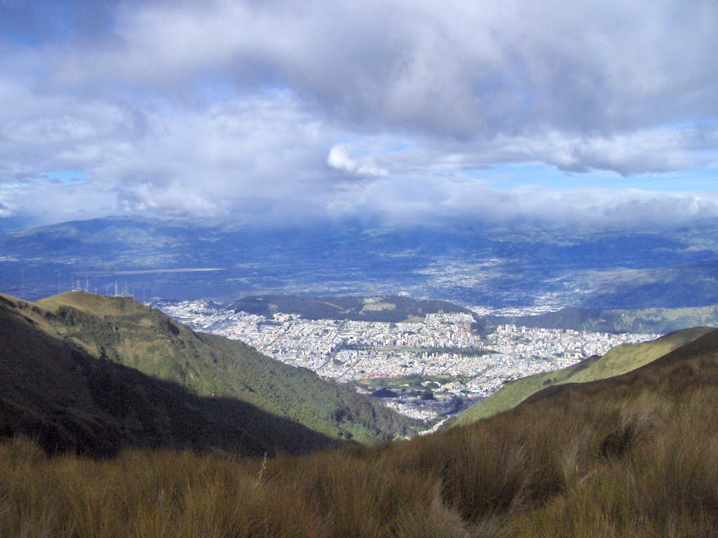 A view from Quito in a sunny afternoon