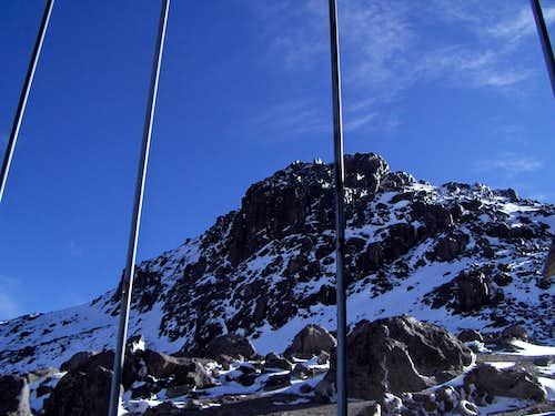 Outside the Cayambe's  Refuge
