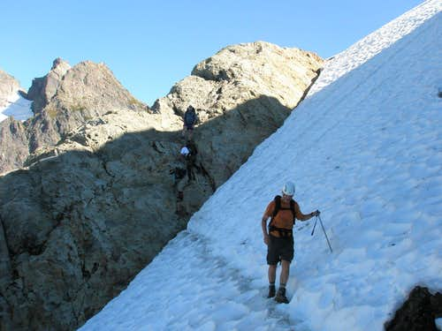 Lower snow traverse