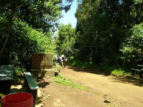 Dirt road towards Mandara Hut