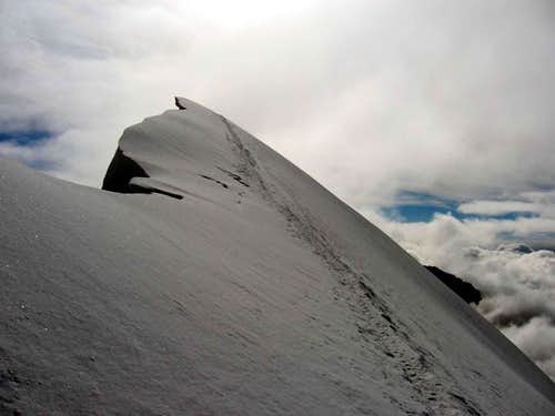 The summit of central Breithorn.