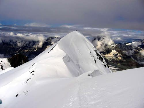 The west summit of Breithorn.