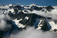 glacier peak from upper sahale glacier