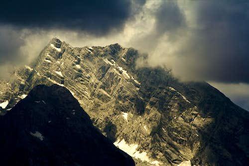 The summit ridge of Watzmann