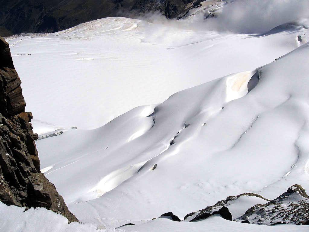 The Tribolazione glacier.