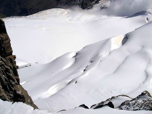 The Tribolazione glacier.