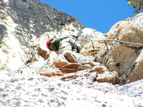 Just a little higher on Pitch 1, South Arete.