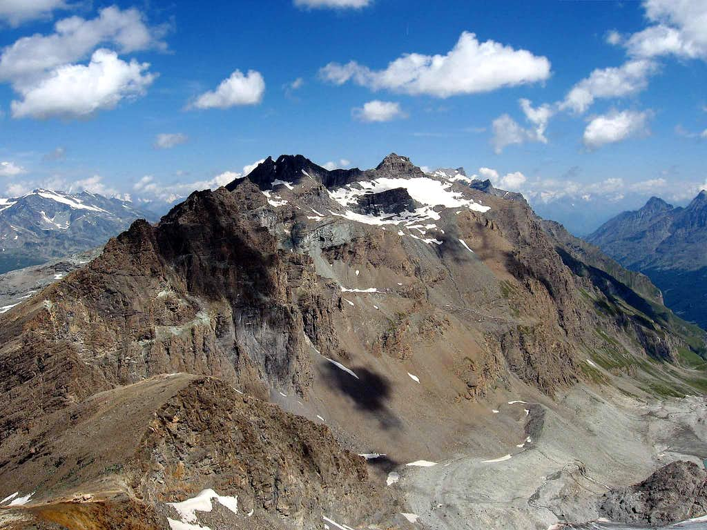 Grande Traversiere seen from Becca della Traversiere.