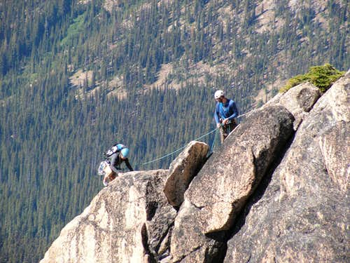 Climbers on Southwest Buttress