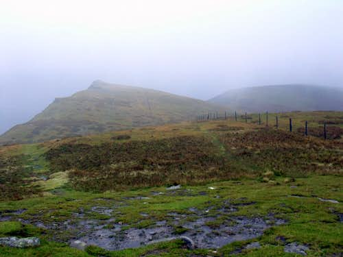 Heavy Rain on the Berwyn Summits