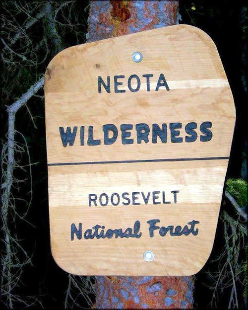 Neota Wilderness Sign