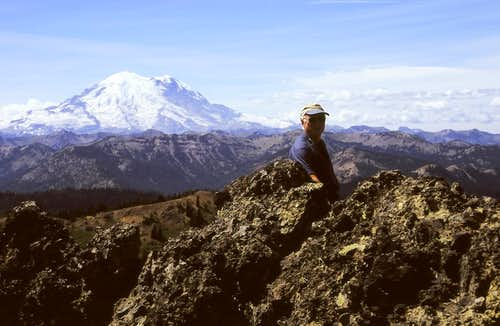 Summit of West Peak with Rainier