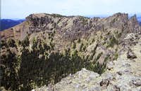 The Northwest Peak of Fifes Peaks