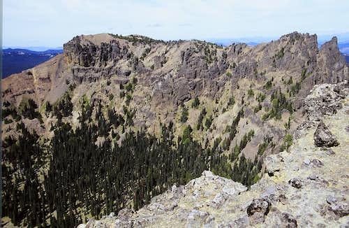 The Northwest Peak of Fifes Peaks