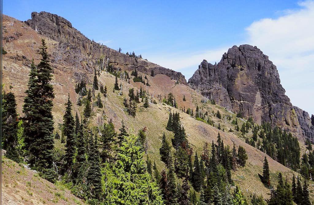 West Peak and East Peak of Fifes Peaks