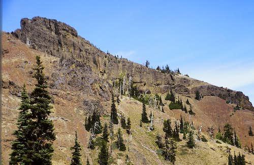 Close-up of the West Peak of Fifes Peaks