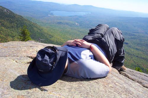 Snoozing on West Peak