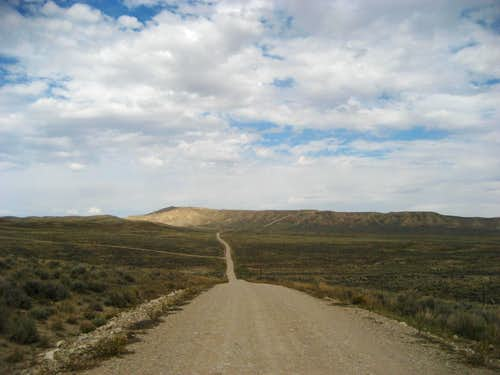 Typical section of southern badlands road