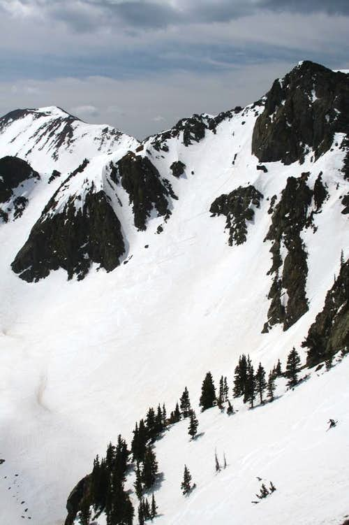 Scott skiing SE slope of Kachina Peak