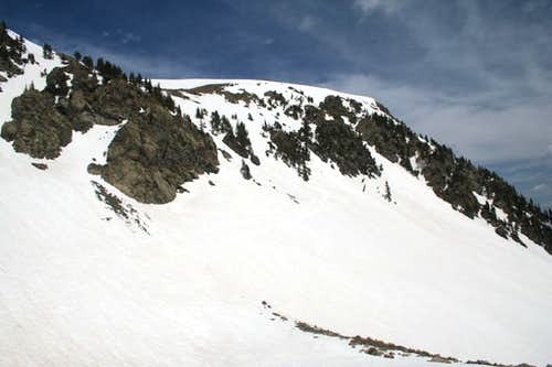 Kachina Peak:  Skiing its SE Bowl