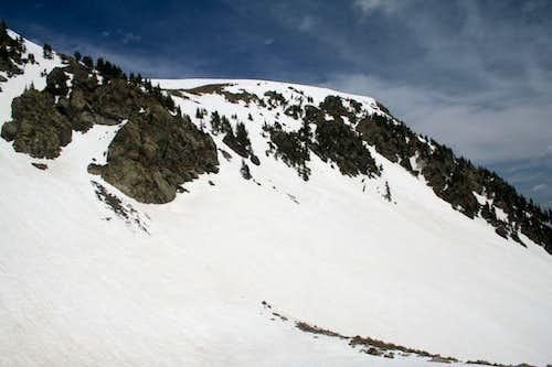 Kachina Peak:  Skiing its SE Bowl