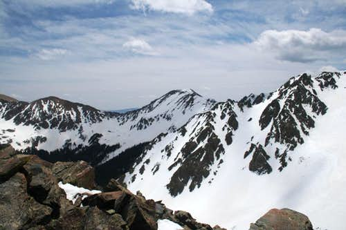 East ridge of Lake Fork Peak
