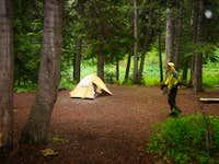 Camping at Snowmass Lake
