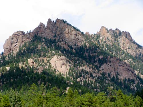 Long Scraggy Peak from South Platte River