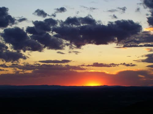 Sunset from Cedar Mountain