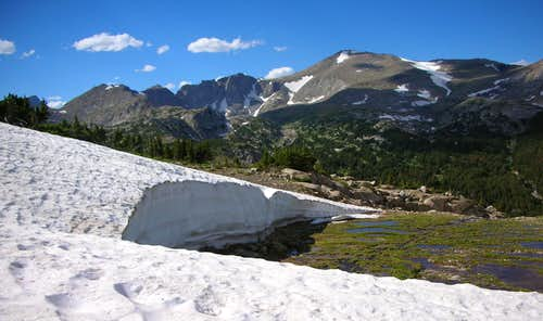 Snowfield above Mountain Sheep Lake