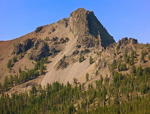 Close up of Cowhorn Mt. from the PCT