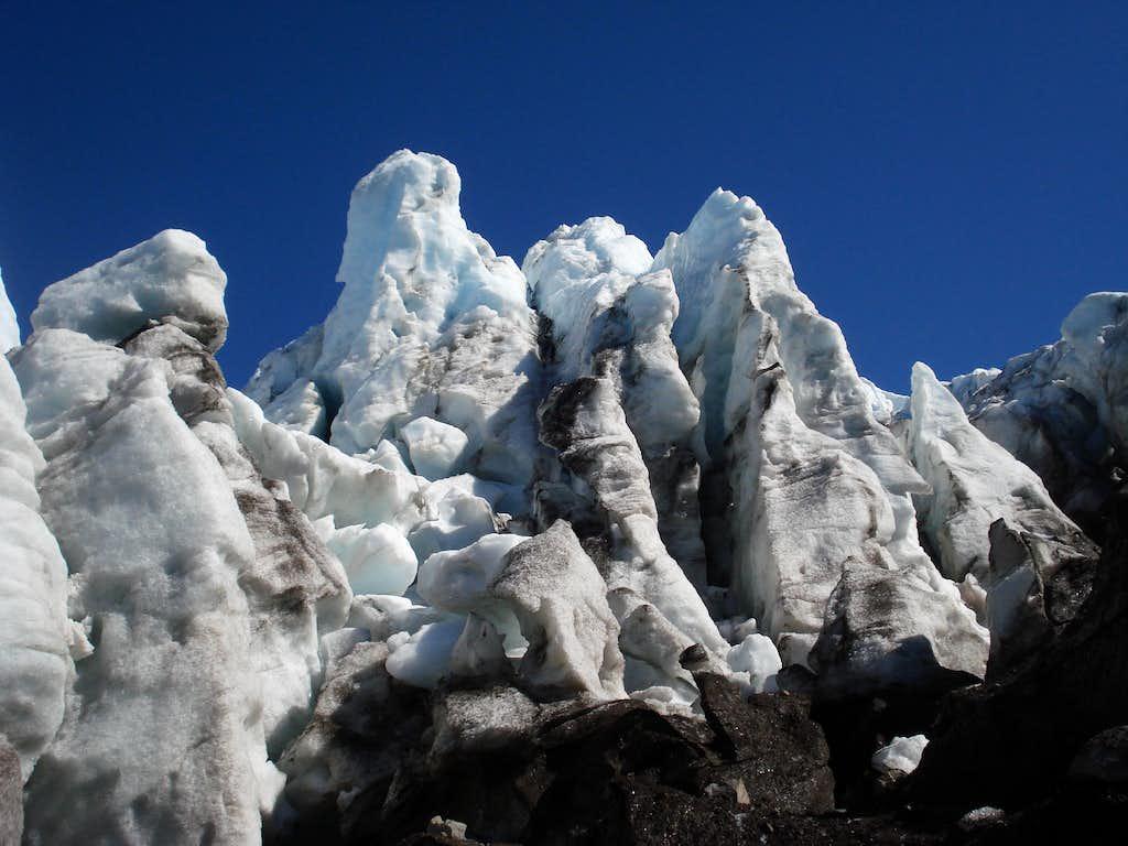 Coleman Glacier Ice Towers