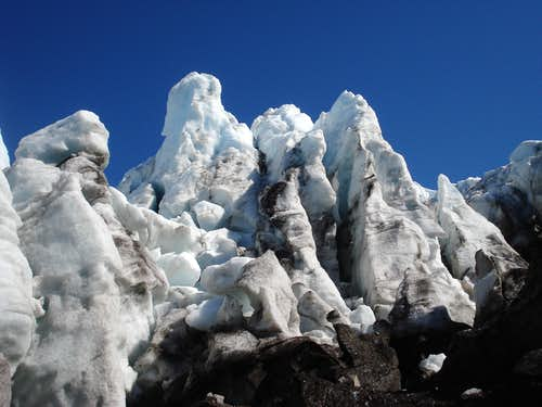 Coleman Glacier Ice Towers
