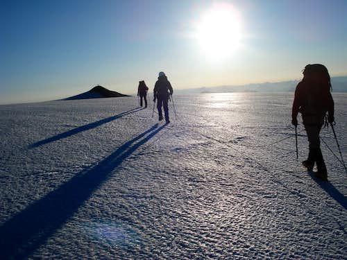 Final ascent of Mount Baker
