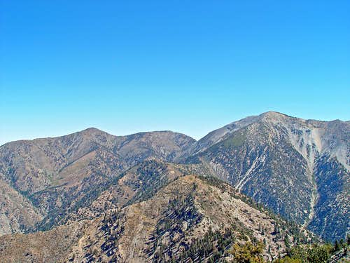 Mount Baldy and San Antonio Ridge from Iron Mountain