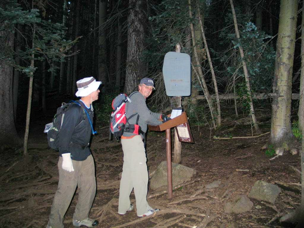 At the wilderness trail register