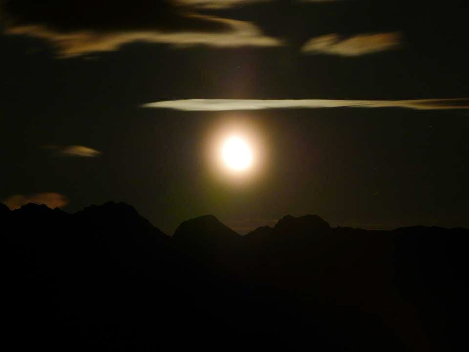 Moon view from Lidesh Bivouac