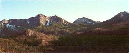 View of lower Pintler peaks...