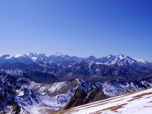 Mont Pelvoux and Barre des Ecrins