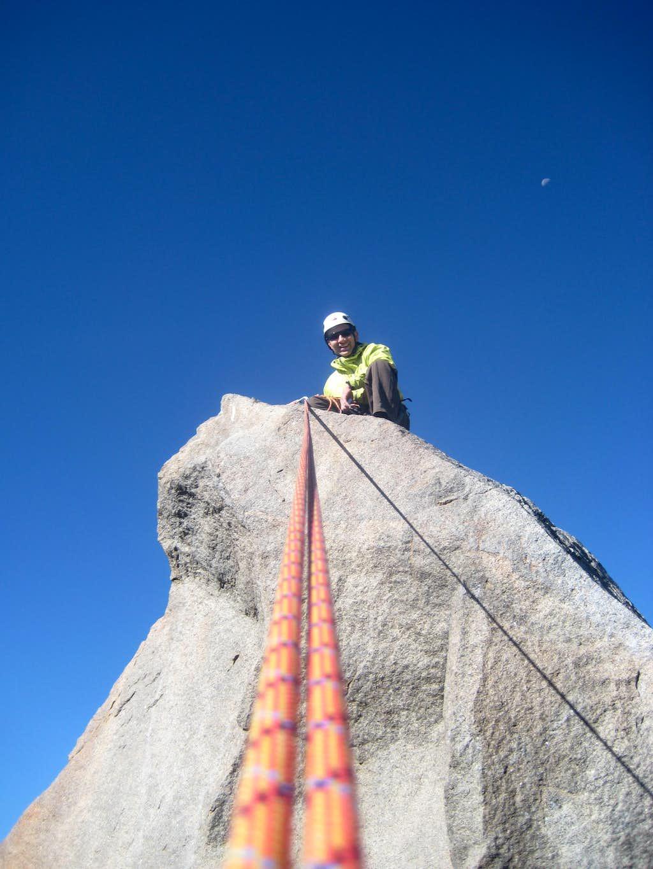 Fred Sitting on Summit Block