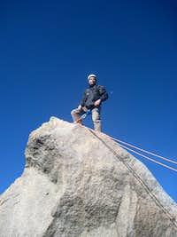 Luis Standing on Summit Block
