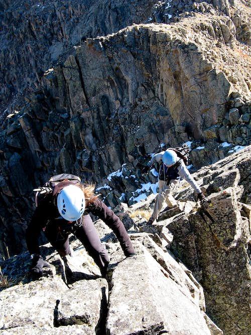 Solid Slab Climbing on West Truro (Sawatch)