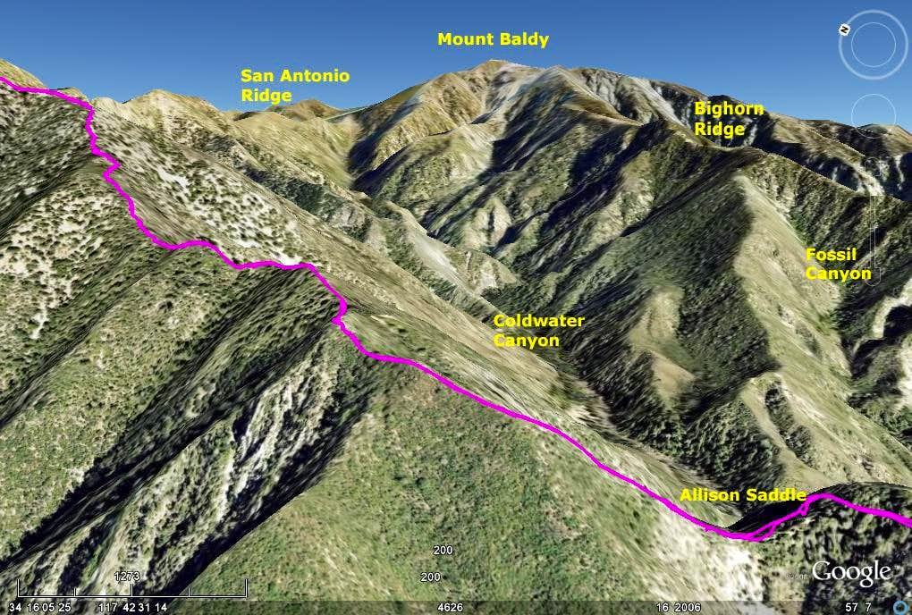 Iron Mountain via Heaton Flat - Google Earth Rendition Part 4