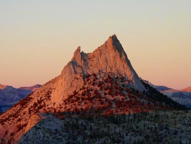Sunset on Cathedral Peak