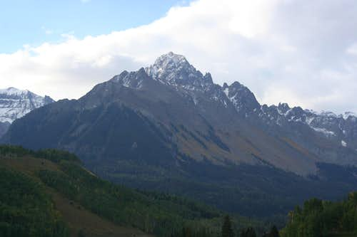 Mt. Sneffels from Dallas Creek Road