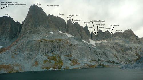 northern Minarets with labels
